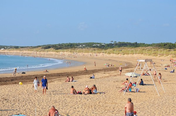 South beach of Domino in Saint Georges Oleron - France