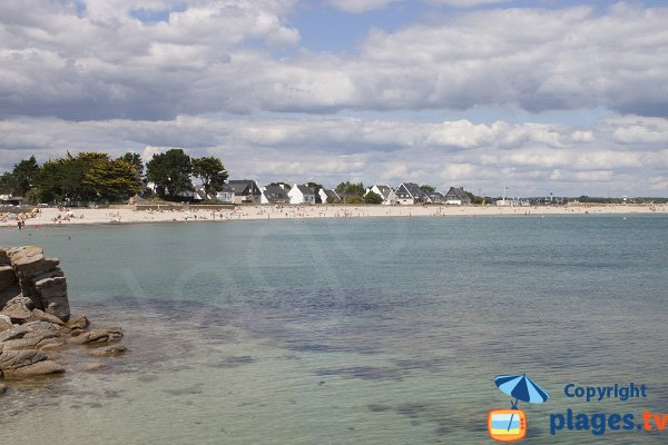 Photo of Grande Plage of Gavres in Brittany - France