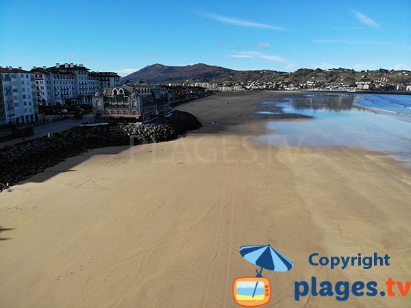 Partie centrale de la plage d'Hendaye