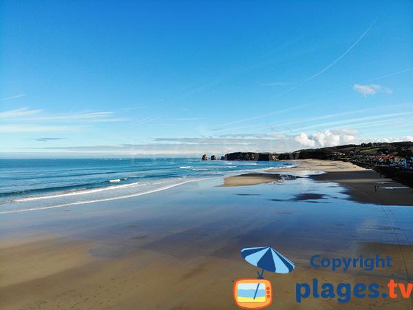 Photo de la plage d'Hendaye