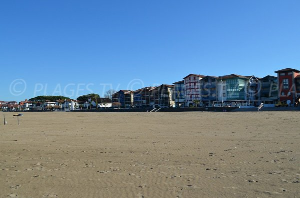Seafront of Hendaye from the beach