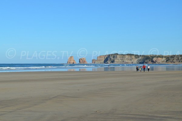 Twin rocks on the Hendaye beach