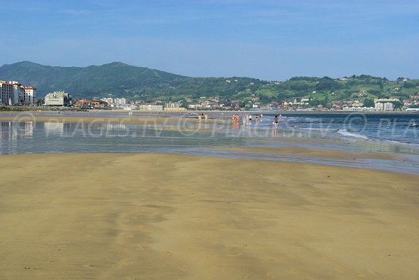 Photo of the Beach of Hendaye in France