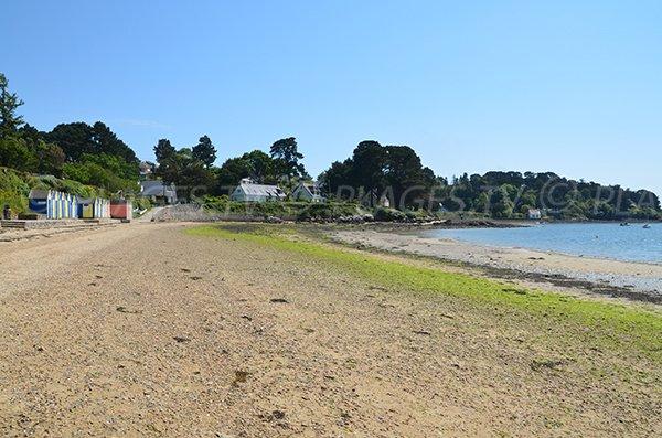 Plage où l'on peut se baigner sur l'Ile aux moines