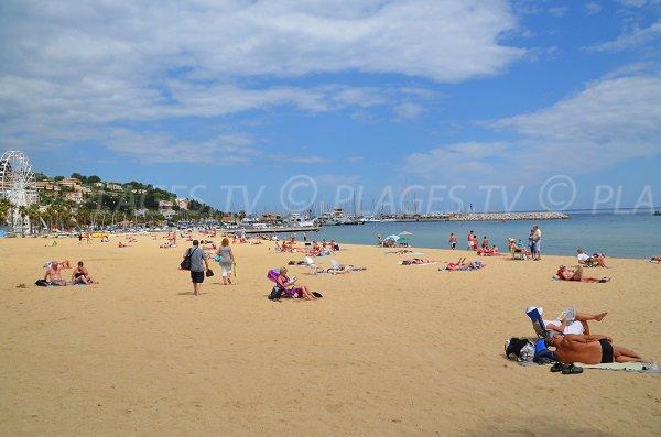 Grande Beach in Lavandou - France