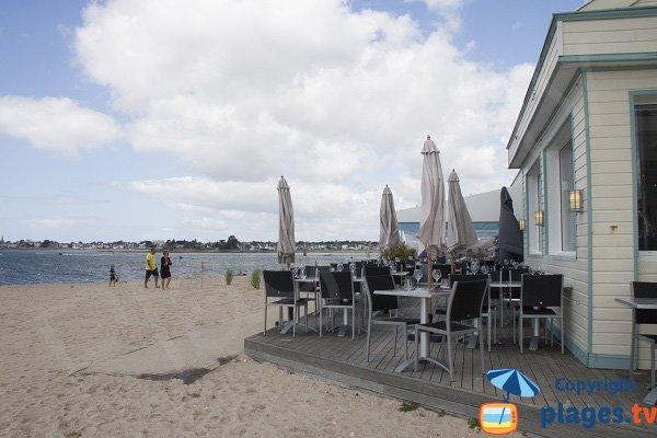 Grande plage de Port-Louis en Juillet