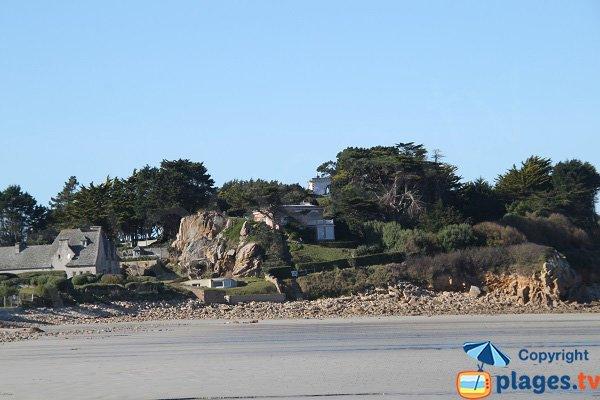 Environnement de la plage de Primel-Trégastel