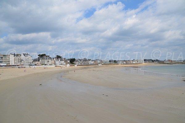 Main beach of Quiberon in France