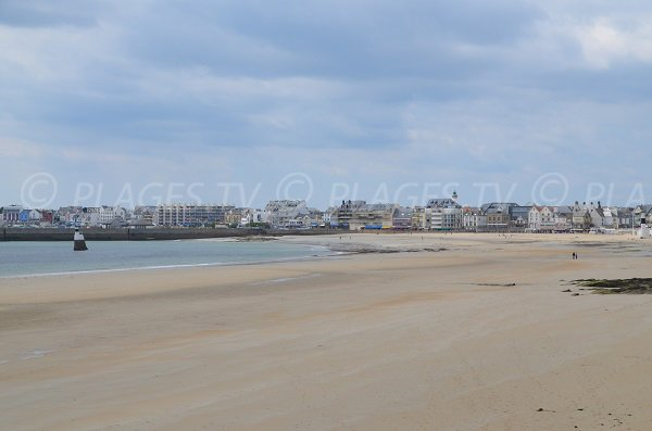 Overview of Main beach of Quiberon