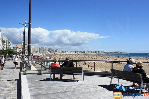 Grande beach in Les Sables d'Olonne in France