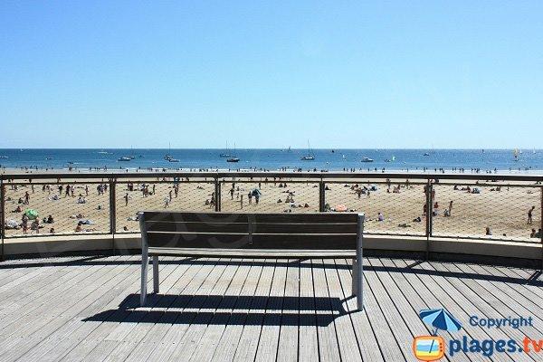 Beach in Sables d'Olonne center