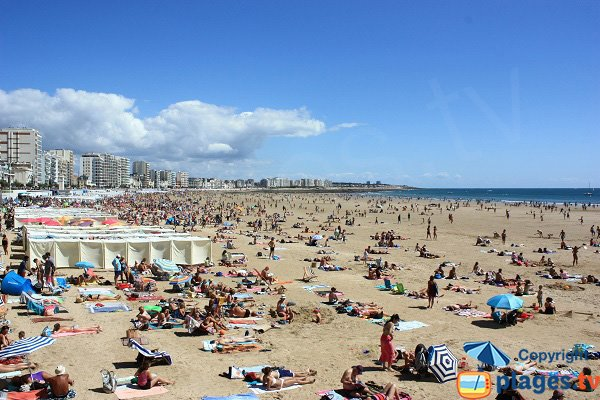 Main beach of Les Sables d'Olonne
