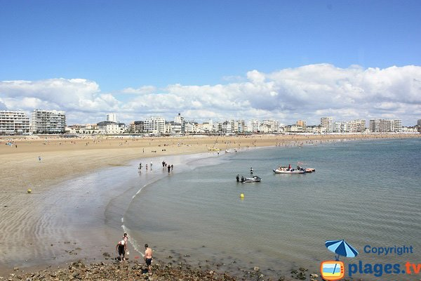 Overview of the main beach of Les Sables d'Olonne