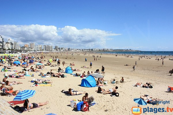 Photo of the Grande beach in Sables d'Olonne in France