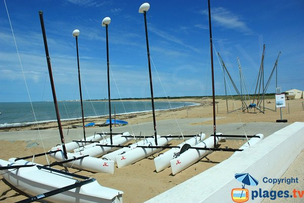 Centre nautique et plage de Sion - Vendée