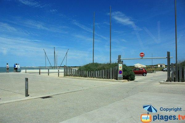 Parking de la plage de Sion
