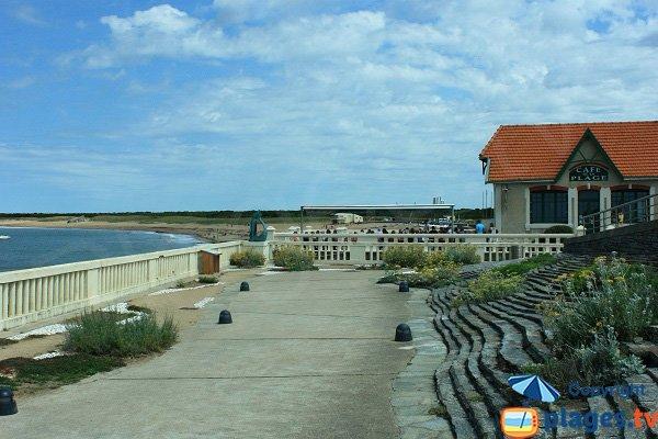 Grande plage de Sion vue depuis Sion sur l'Océan