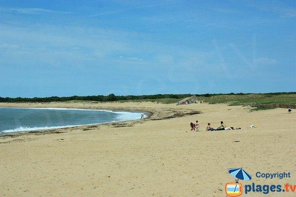 Photo de la grande plage de Sion