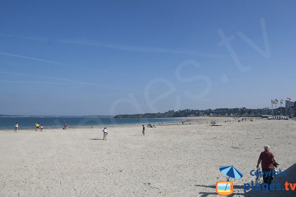 Large beach in Saint Cast le Guildo in France