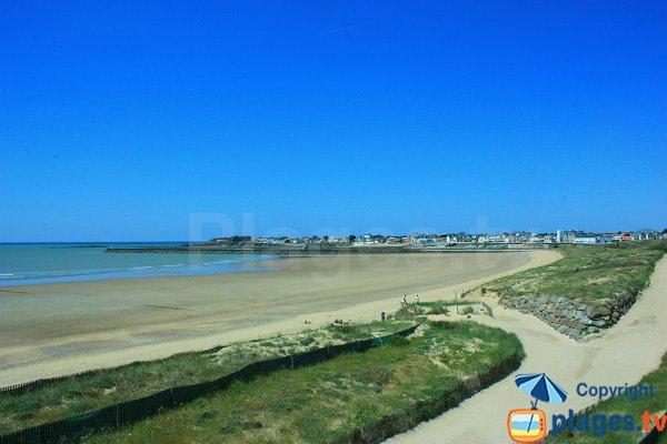 Grande beach of Saint Gilles Croix de Vie near harbor
