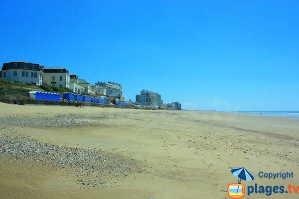 Beach huts on St Gilles Croix de Vie main beach
