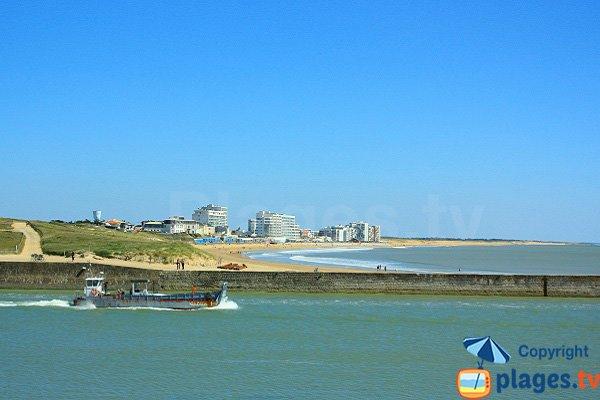 Photo of Grande beach in St Gilles Croix de Vie in France