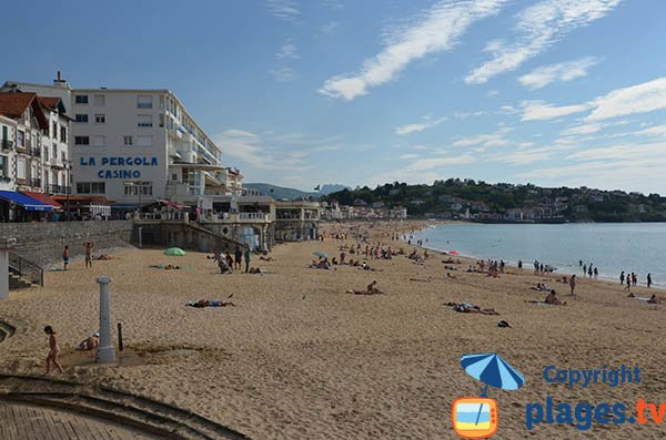 Main beach of Saint Jean de Luz
