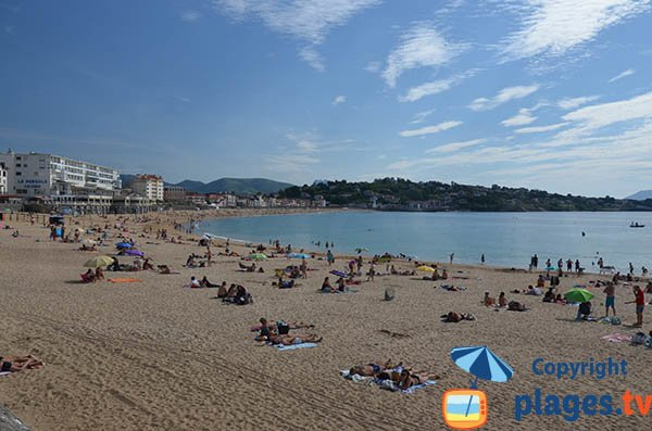Public beach in Saint Jean de Luz
