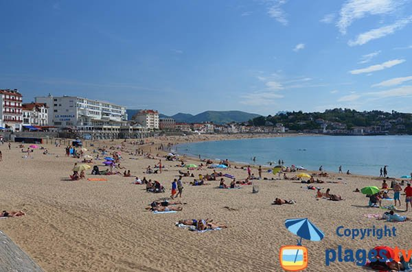 Most beautiful beach in St Jean de Luz in France