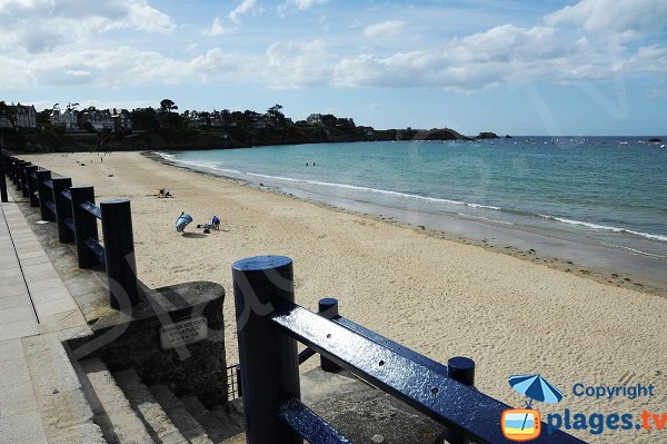 Central beach in Saint Lunaire - France