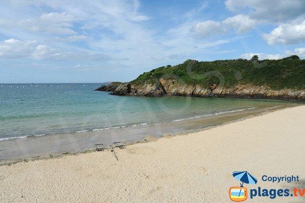 Pointe du Nick vue depuis la plage du centre de Saint Lunaire