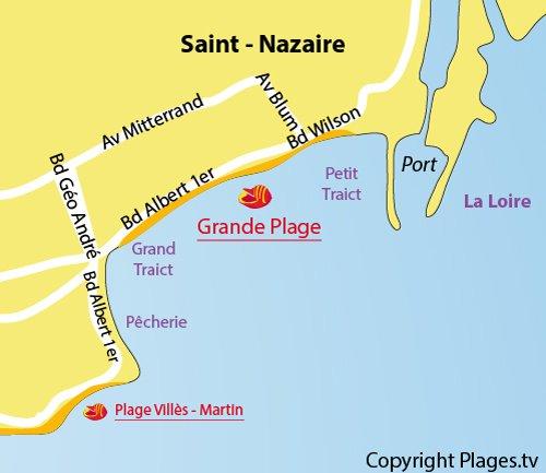 Grande plage de St Nazaire