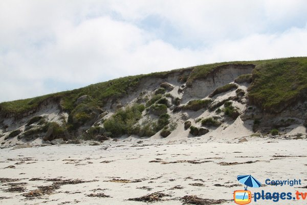 Dunes of the island of Batz in Brittany