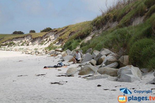 Beautifull beach of the island of Batz
