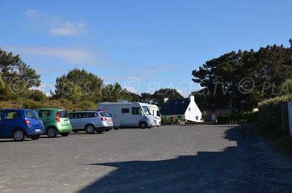 Parking de la Grève Blanche à Trégastel