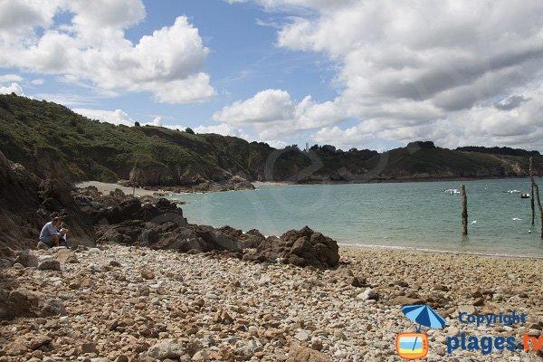 Wild beach in Plouha