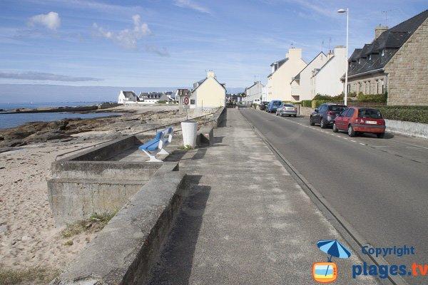Parking de la plage de la Grève Jaune à Guilvinec
