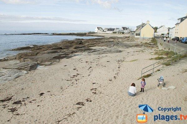 Photo de la plage de la Grève Jaune à Guilvinec en Bretagne