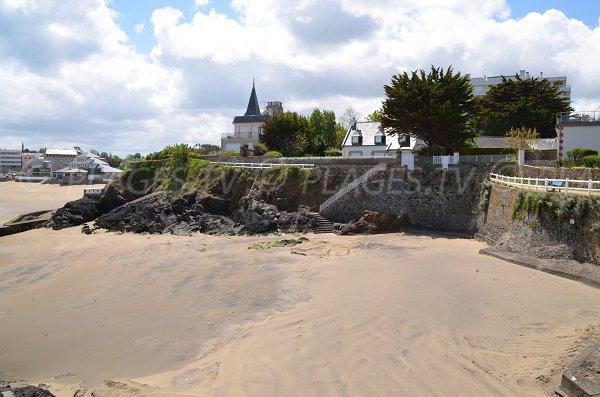 Grève Noire and center of St Quay Portrieux