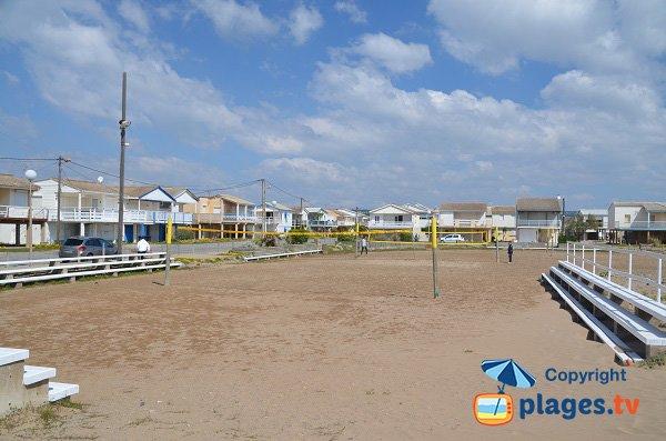 Terrain de beach volley - plage des chalets