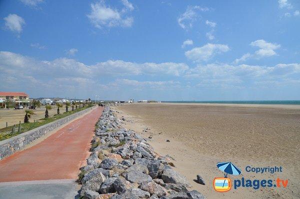 passeggiata pedonale della spiaggia degli chalets - Gruissan