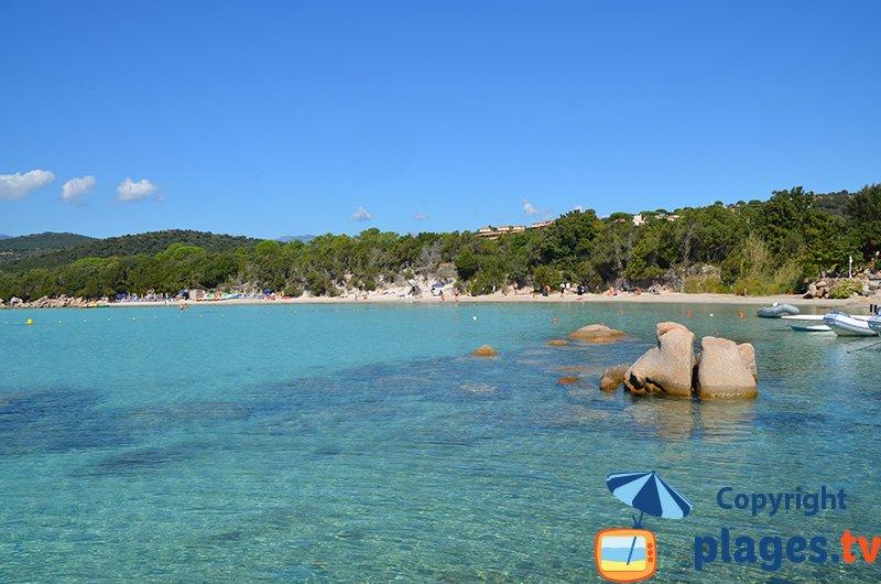Santa Giulia en Corse : une plage paradisiaque