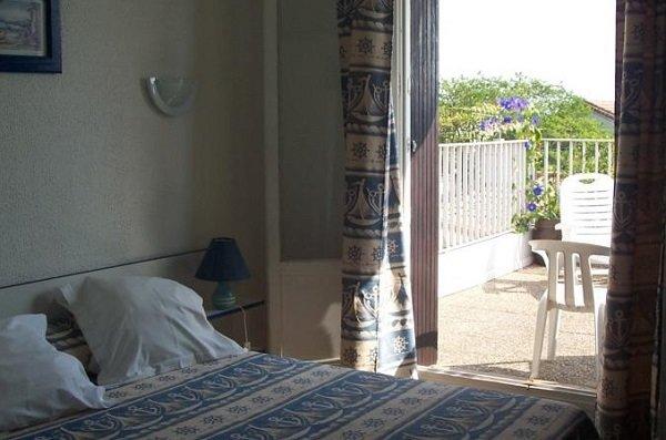 Chambre de l'hôtel du Fanal au Racou