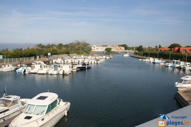 Recreation Island in Cap d'Agde harbour