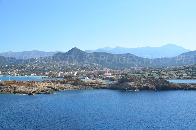 Ile Rousse seen from the peninsula of Pietra