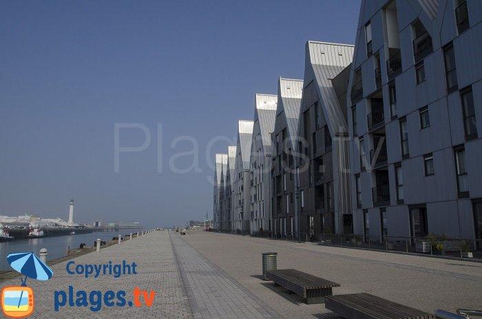 Immeubles dans le quartier Grand Large de Dunkerque