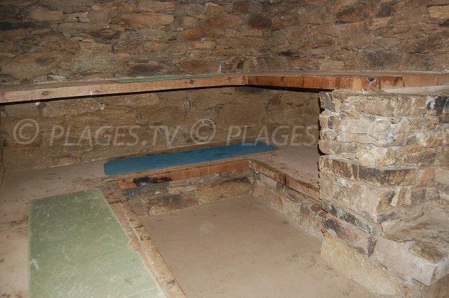 Intérieur d'un paillet de Ghignu