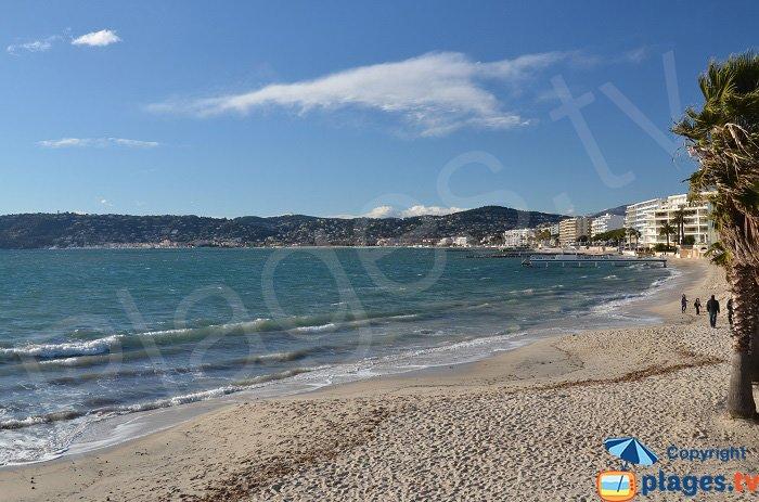 Juan les Pins and the sand beach