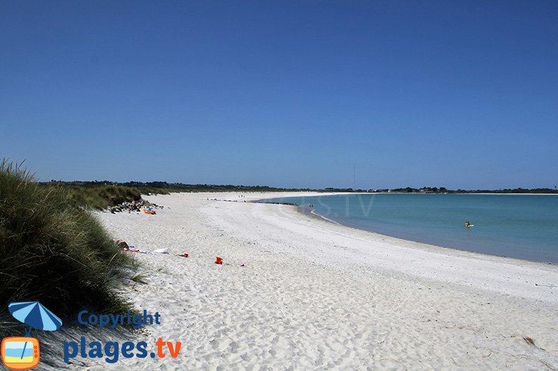 La plage de Keremma dans le Finistère Nord