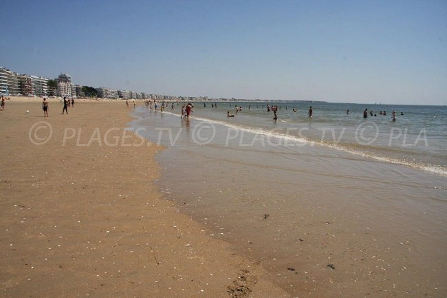 The great beach of La Baule in France